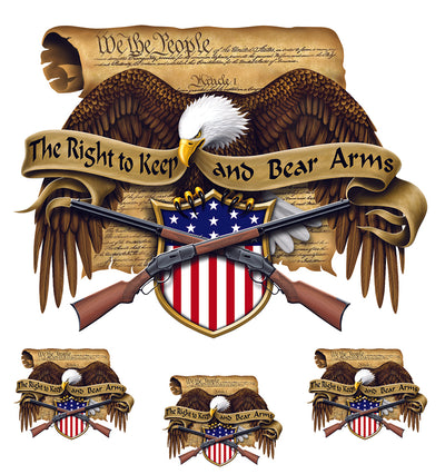 Right to Bear Arms 2nd Amendment Eagle Decal