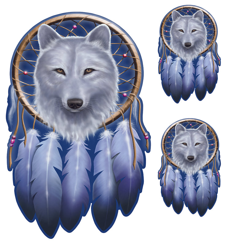 Dream Catcher Wolf Decal
