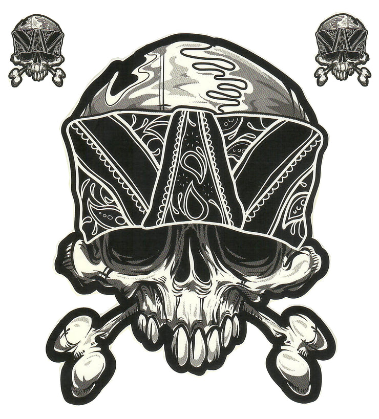 Bandana Bone Skull Decal