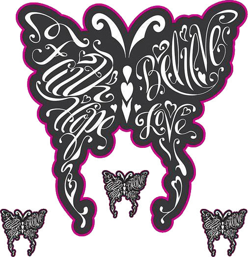 Butterfly Words Decal