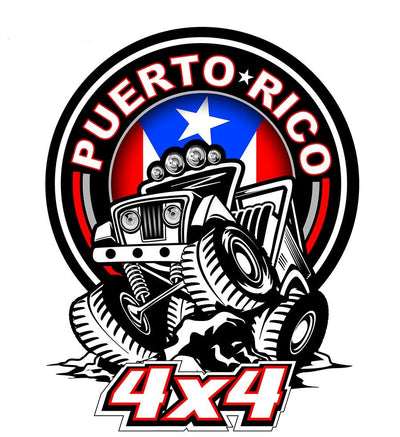 Puerto Rico 4×4 Vehicle Decal