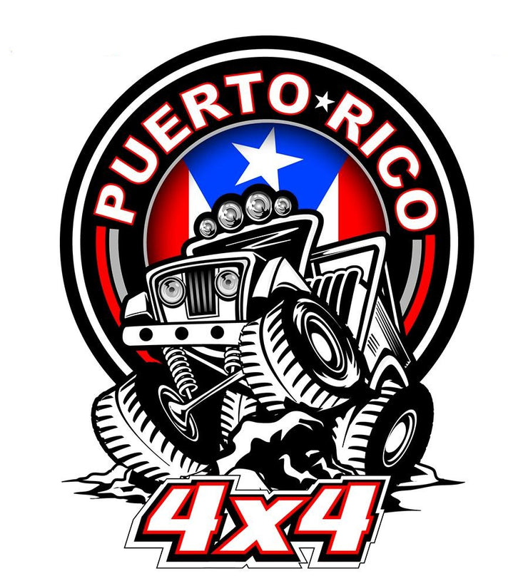 Puerto Rico 4×4 Decal