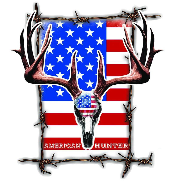 American  Deer Skull Hunter Decal
