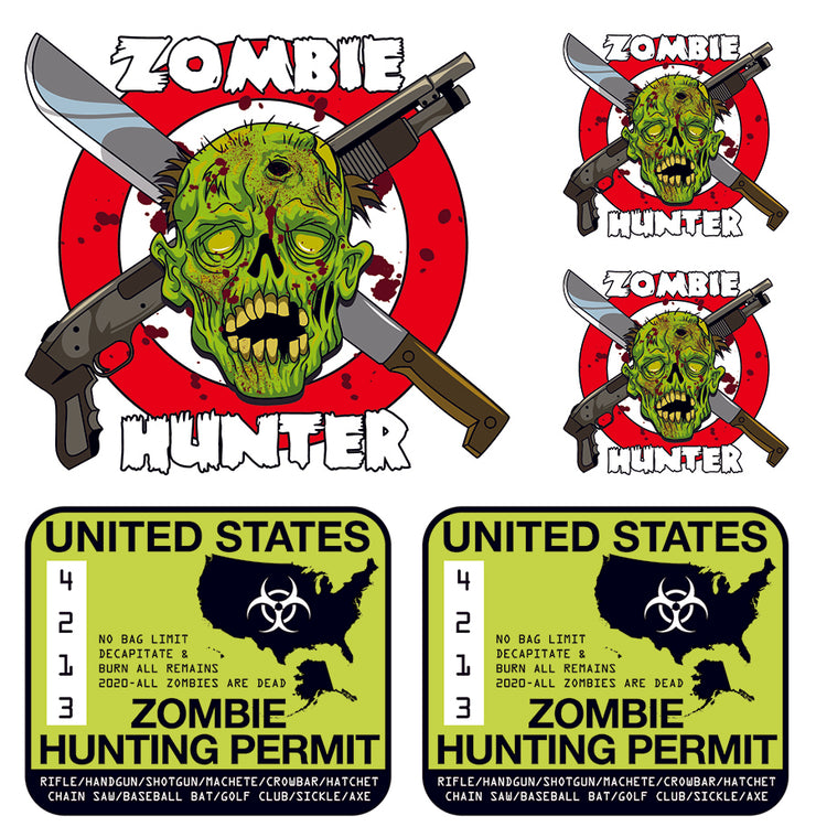 Zombie Hunting Permit Decal Kit