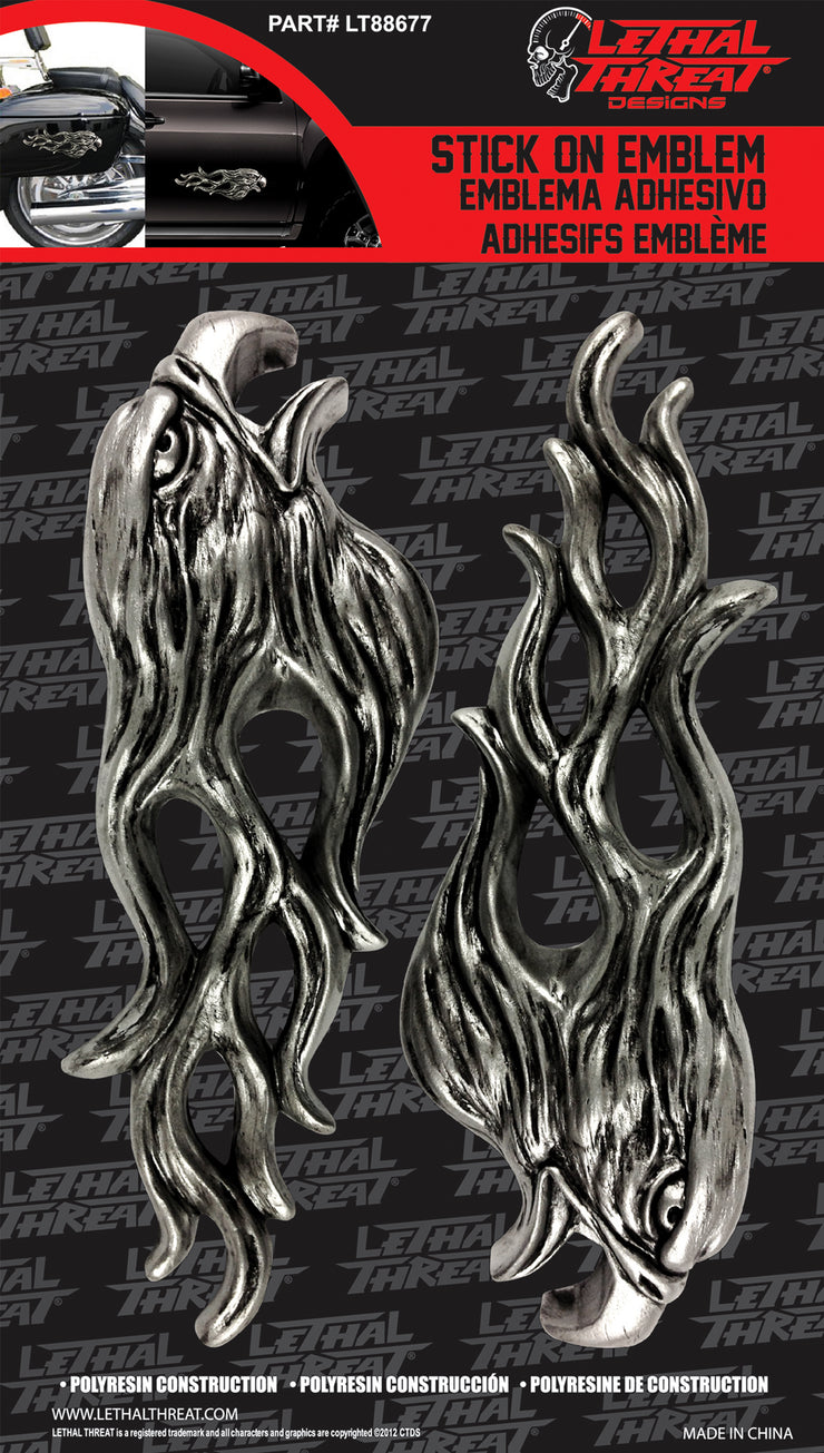 Eagle Flames LT & RT 3D Peel n Stick Emblems