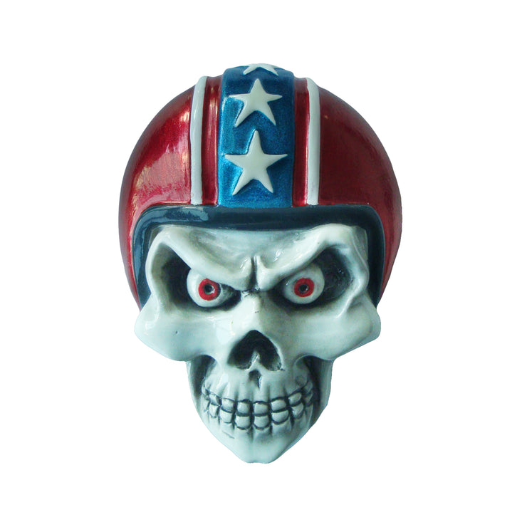 Red Helmet Skull Red Peel n Stick 3D Emblem
