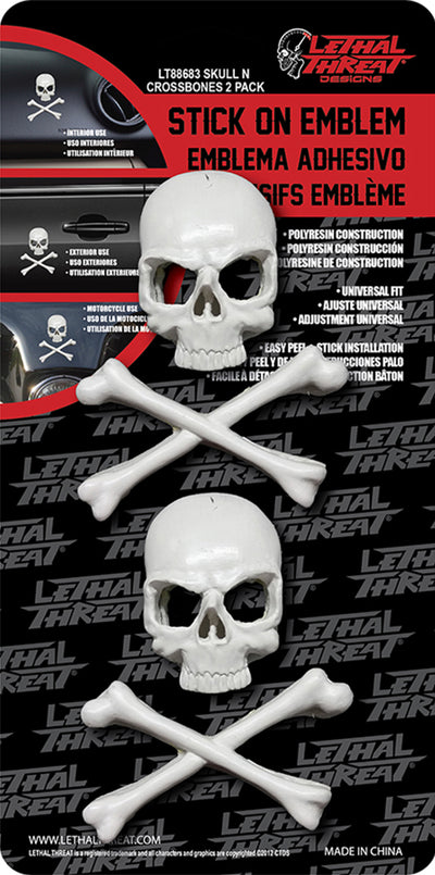 Cross Bone Skull 2 Pack Emblem