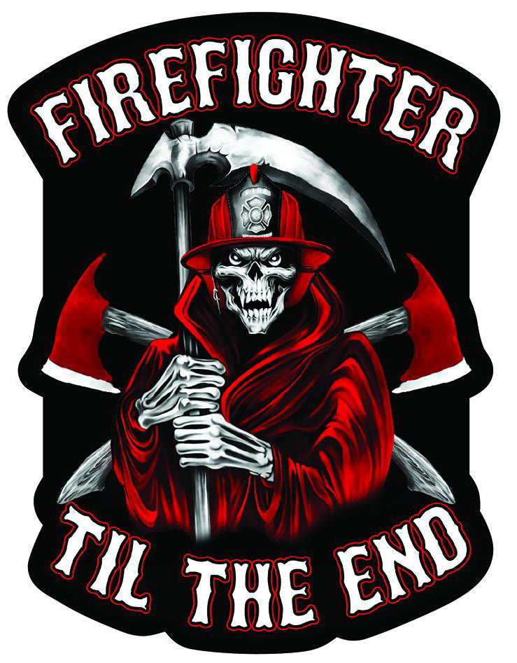 Firefighter Til The End Decal