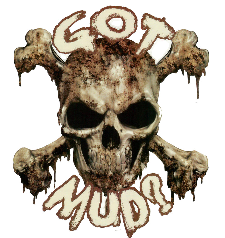 Got Mud Skull Decal
