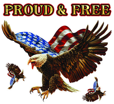 Proud and Free Flag Bald Eagle