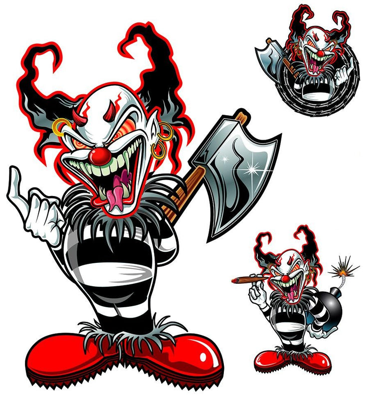 Killer Clown Ax Decal