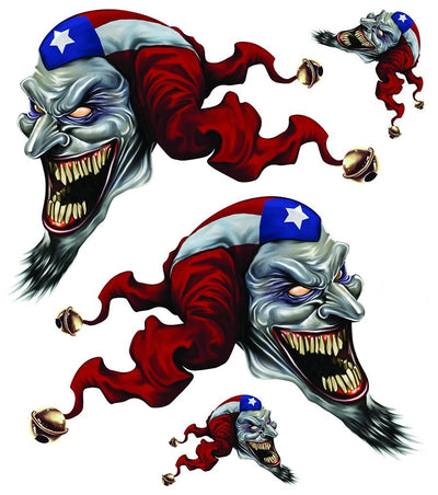 Puerto Rico Jester Left & Right Decal Set