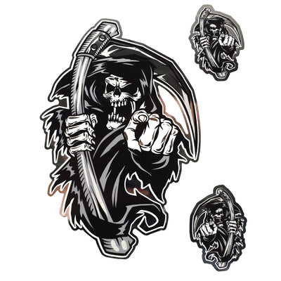 Reaper's Choice Chrome Decal
