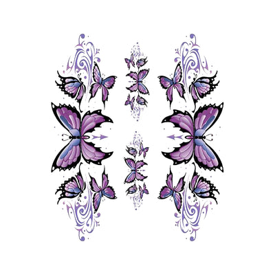 Purple Butterfly Left & Right Decal