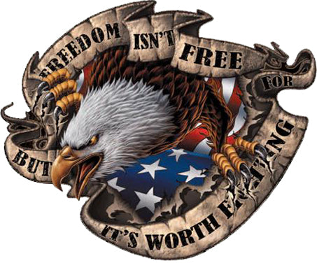 Freedom Isn't Free Bald Eagle Decal