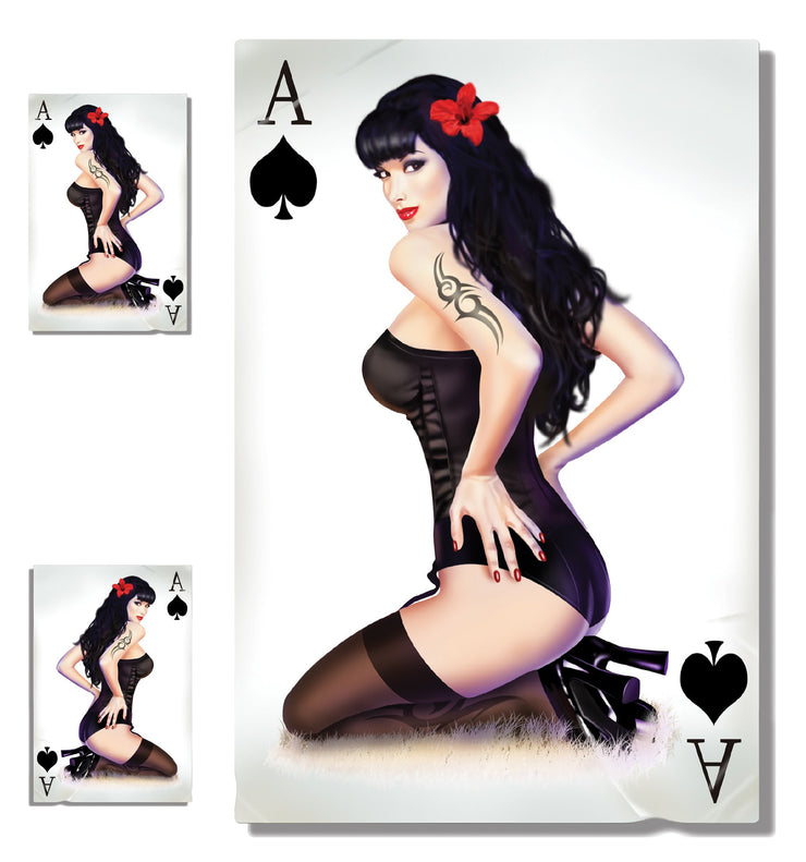 Ace of Spades Pin Up Girl Decal