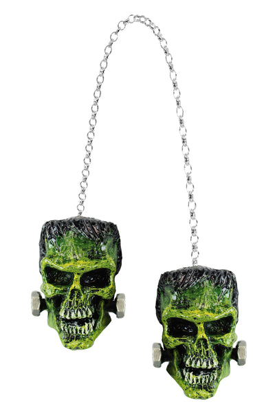 3D Rear View Frankenstein Mirror Danglers