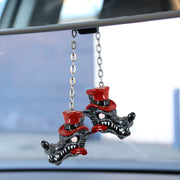 3D Rear View Lone Wolf Mirror Danglers