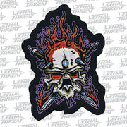 Heavy Metal Skull Mini Patch