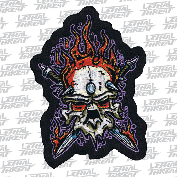 Heavy Metal Skull Embroidered Patch