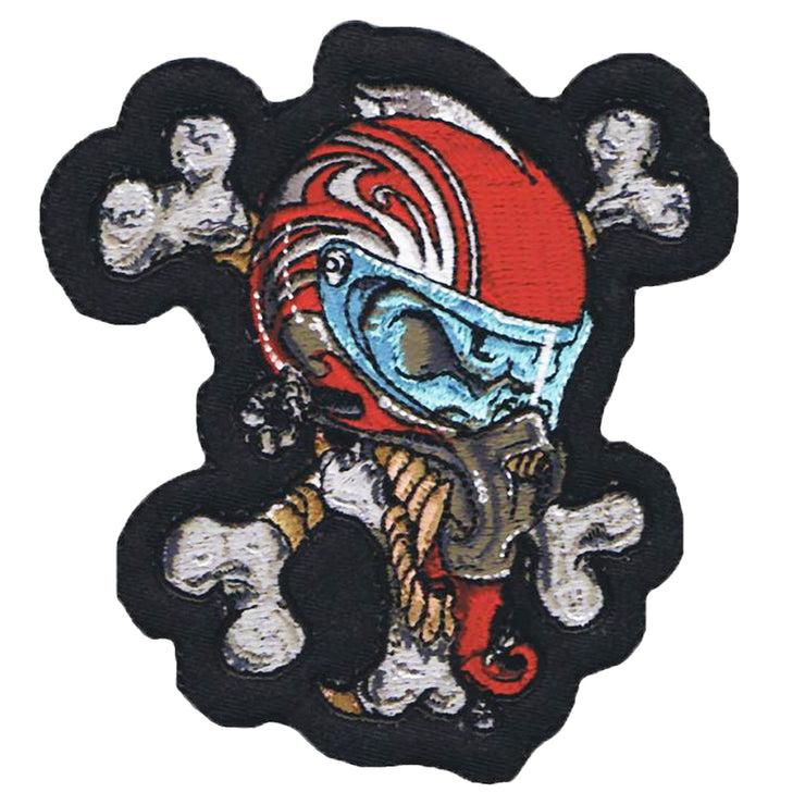 Helmet Skull Mini Patch