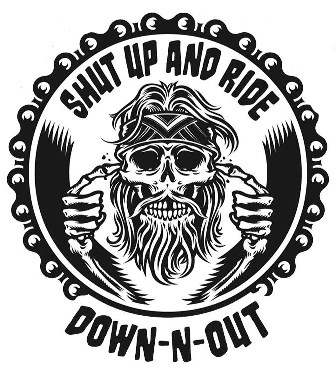 Shut Up and Ride Skull Skull Sticker