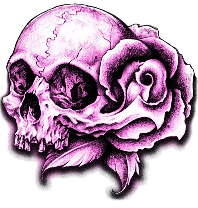 Rude & Crude Decal: Purple Skull