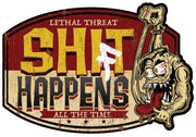 Shift Happens Monster Vintage Metal Sign
