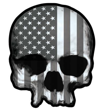 U.S.A. Skull Gray Vintage Metal Sign