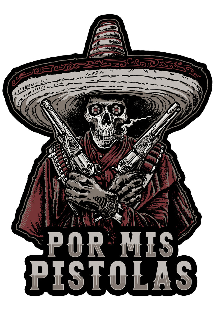 Bandido Skull Vintage Metal Sign