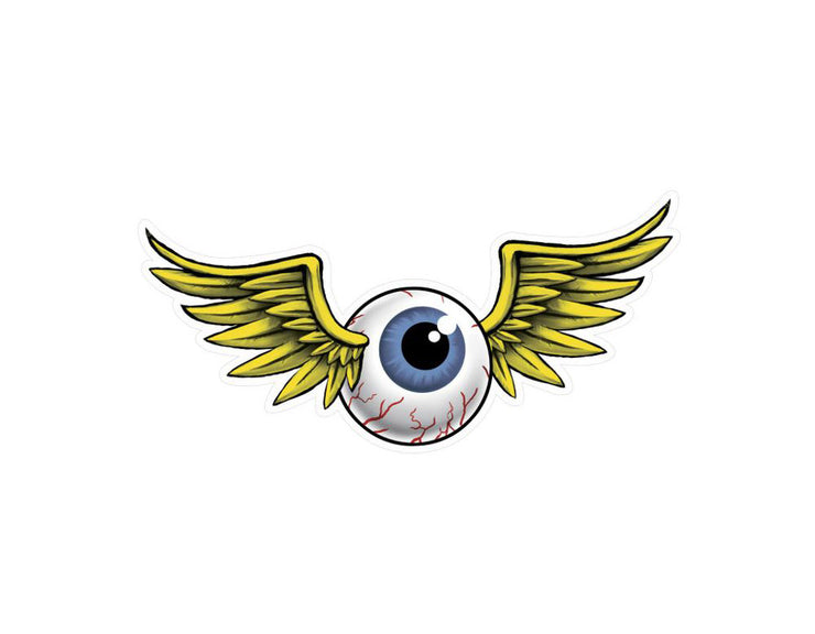 Flying Eyeball Vintage Metal Sign