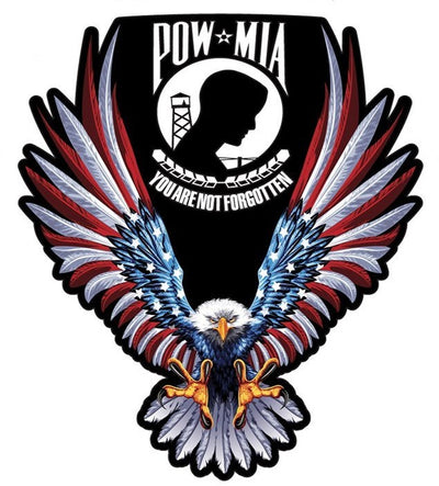 POW/MIA Vietnam USA Flag Eagle Sticker