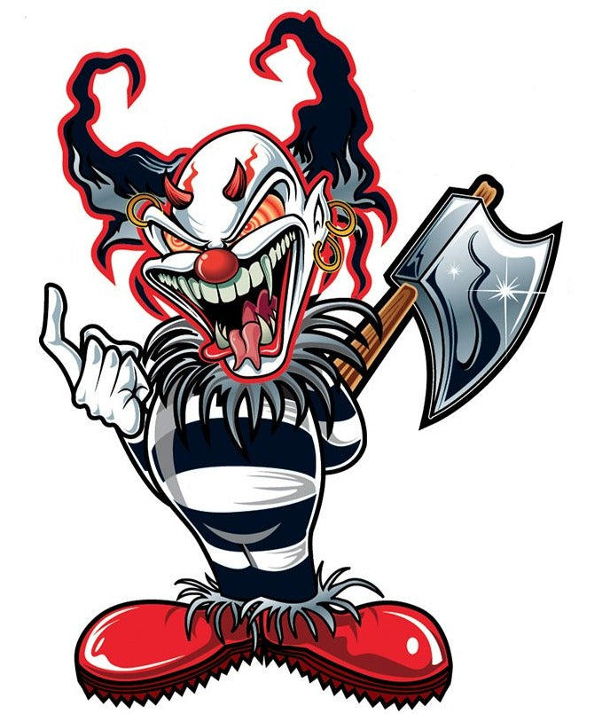 AX Killer Clown Sticker