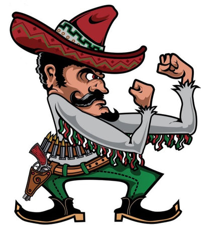Rude & Crude Decal: Fighting Mexican Sticker