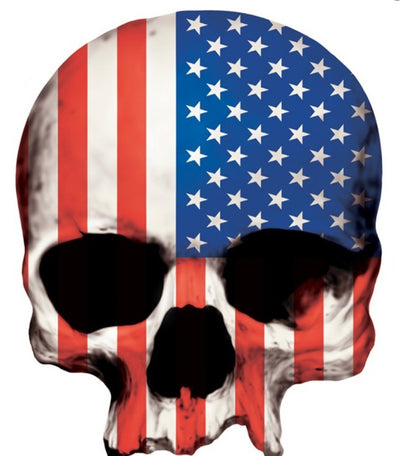 USA Flag Skull Sticker