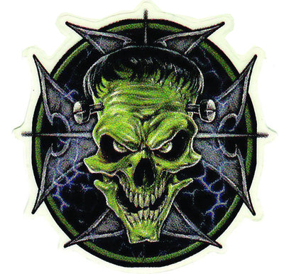 Frankenstein Iron Cross Skull