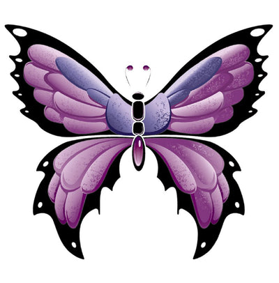 Purple Butterfly Decal