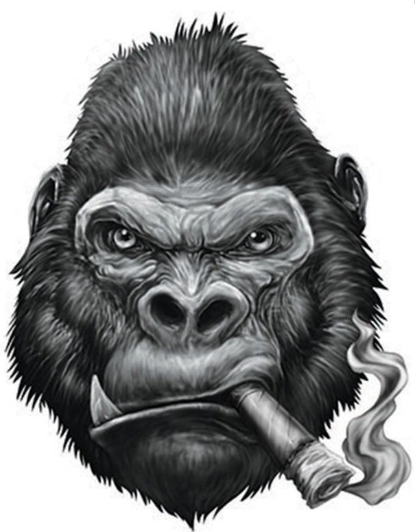Rude & Crude Decal: Gorilla Cigar
