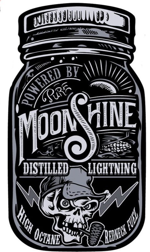 Rude & Crude Decal: Moonshine