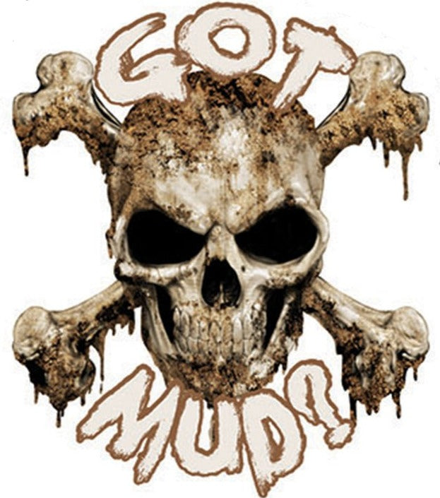 Got Mud Skull Mini Decal/Sticker