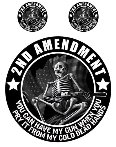 Rude & Crude Decal: 2nd Amendment Skeleton