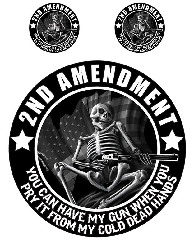 2nd Amendment Skeleton Mini Decal/Sticker