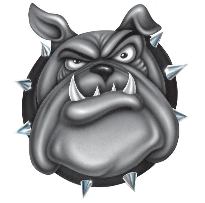 Rude & Crude Decal: Bulldog Airbrushed