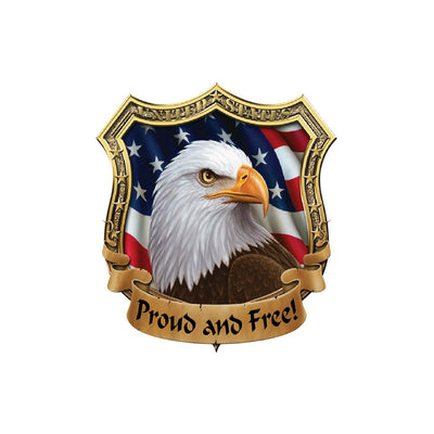 Proud N Free USA Eagle Shield Decal