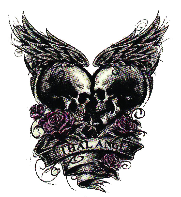 Eternal Love Winged Skull Decal