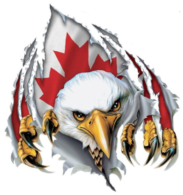 Rude & Crude Decal: Rip N Tear Canadian Eagle Mini Decal/Sticker