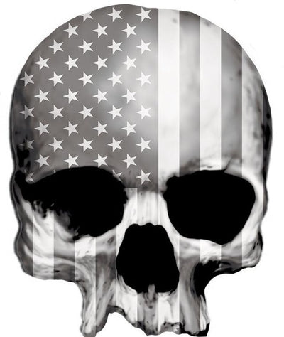 USA Gray Tactical  Skull Sticker