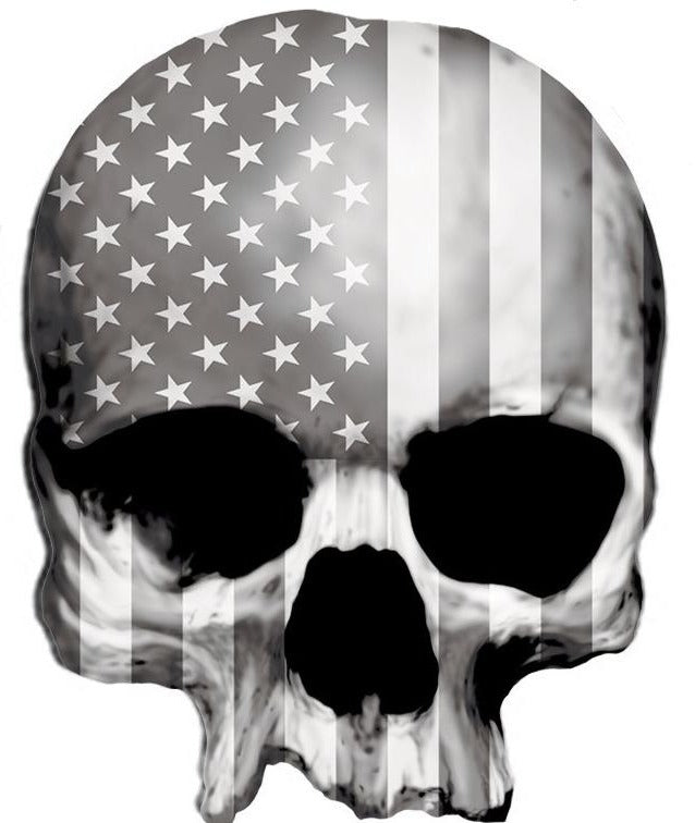 Rude & Crude Decal: USA Gray Skull
