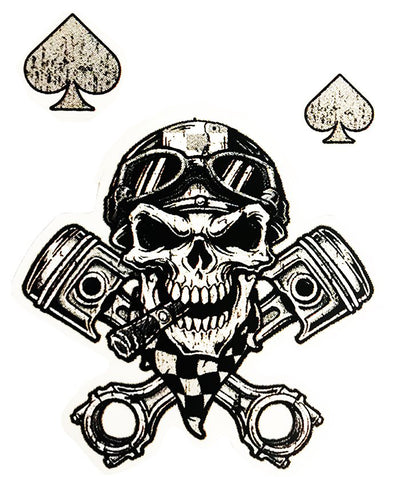 Rude & Crude Decal: Skull Helmet