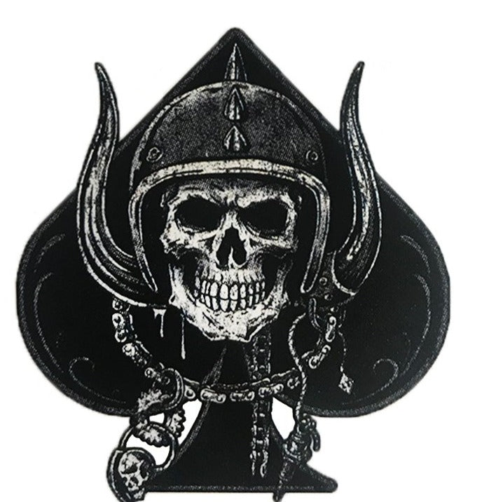 "3"" Ace Of Spades Skull Vintage Wrecked Eye Patch Bones Pirate Vinyl Cool Sticker"